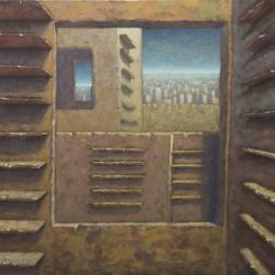 Vedere oltre 100x142cm olio su tela 2011 Roma
