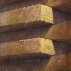 Blocchi 125x60cm olio su tela 2011 Roma