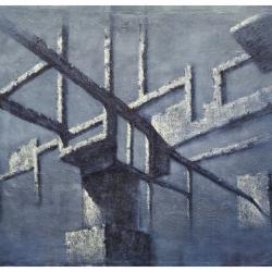 Struttura temporale 170x190cm olio su tela 2014 Roma