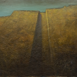 Cascata d'ombra 100x100cm olio su tela 2009 Roma; Shadow Waterfall