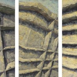 Crocifissione trittico 100x350cm olio su tela 2012 Roma