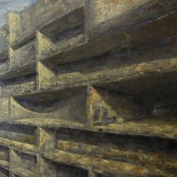 Struttura 180x200cm olio su tela 2012 Roma