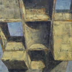 Struttura complessa 110x100cm olio su tela 2012 Roma