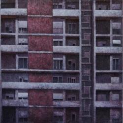 Struttura urbana 100x100cm olio su tela 2016